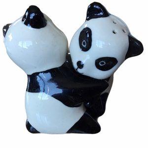 Other - 2 for $25 Panda Bear Ceramic Salt  Pepper Shakers